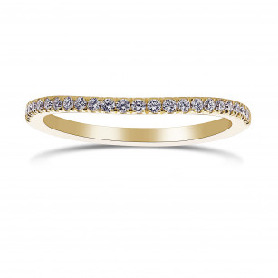 Contoured Diamond Engagement Ring, SKU 398415 (0.18Ct TW)