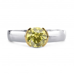 Round Brilliant Half-Bezel Solitaire Ring Setting, SKU 40035S