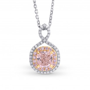 Cross-over Pink Diamond Double Halo Pendant Setting, ARTIKELNUMMER 40351S