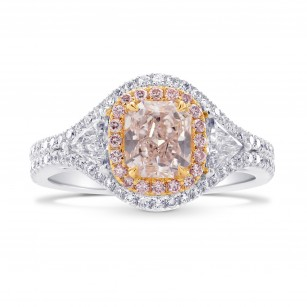 3 Stone Halo Diamond Ring Setting, SKU 40412S