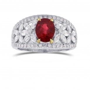 Extraordinary Diamond Ring Setting with Marquise & Round Side Diamonds, SKU 40470S