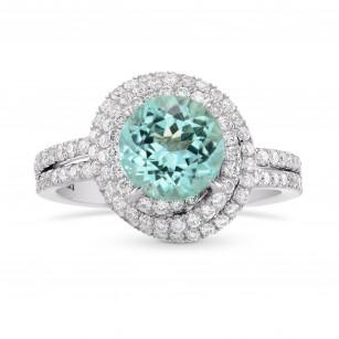 Round Triple Halo Diamond Designer Ring Setting, SKU 40729S