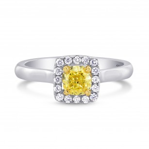 Cushion Halo Diamond Ring Setting with Plain Shank, SKU 4081S