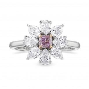 Fancy Intense Pink Purple Cushion Diamond Dress Ring, SKU 428647 (1.20Ct TW)