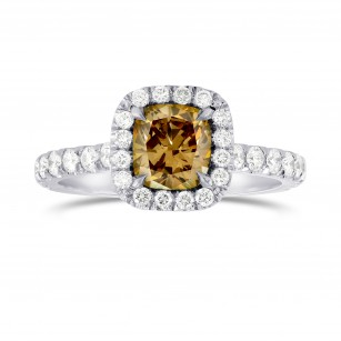 Fancy Dark Yellowish Brown Diamond Halo Ring, SKU 46531 (1.64Ct TW)