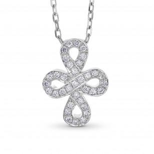 White Gold Diamond Infinity Pendant, SKU 53251 (0.11Ct TW)
