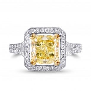 2.44ct Y-Z Radiant Cut Halo Diamond Ring, SKU 56482 (3.00Ct TW)