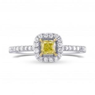 Fancy Intense Yellow Radiant Diamond Halo Ring, SKU 59727 (0.64Ct TW)