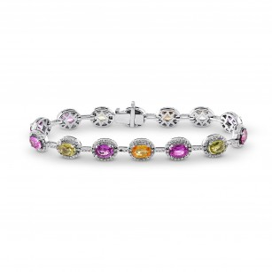 Multicolored No Heat Sri Lanka Sapphire Bracelet, SKU 64511 (15.16Ct TW)