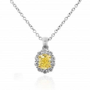 Fancy Light Yellow Oval Diamond Pendant, SKU 73058 (0.83Ct TW)
