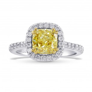 Fancy Yellow Radiant Diamond Halo Ring, SKU 76914 (2.78Ct TW)