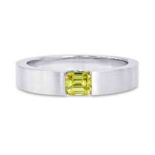 Fancy Intense Greenish Yellow Band Ring, SKU 77626 (0.40Ct)