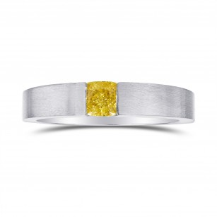 Fancy Vivid Yellow Diamond Solitaire  Ring, SKU 84270 (0.60Ct)