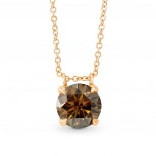 Fancy Brown Round Diamond Pendant, SKU 91272 (1.41Ct)