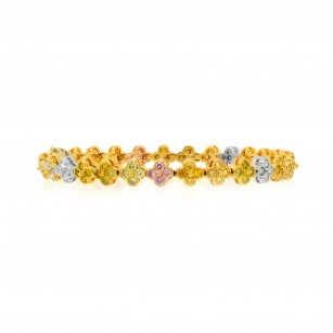 Multicolor Diamond Bracelet set in 18K 3 Color Gold, SKU JL-1106 (6.47Ct TW)