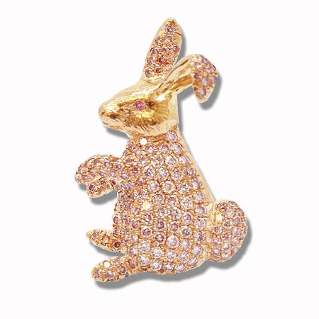 Pink Diamond Brooch, SKU 33336 (2.20Ct TW)