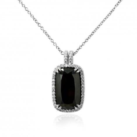 Black Radiant Diamond Pendant, SKU 109876 (8.64Ct TW)