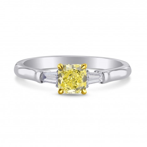 Solitaire Ring Setting with Taper Baguette Diamonds, SKU 1114S