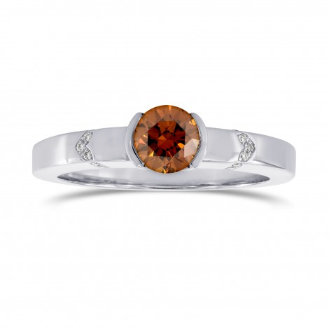 Fancy Deep Brownish Orange Diamond Ring, SKU 118125 (0.55Ct TW)