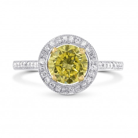 Vintage Style Milgrain Halo Diamond Ring Setting, SKU 1203S