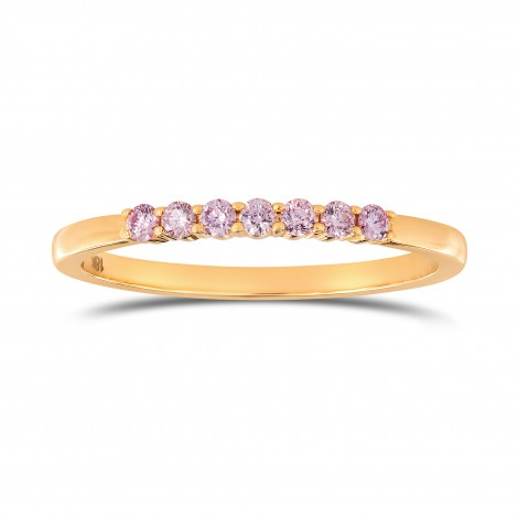 Fancy Pink Diamond Band Ring, SKU 135378 (0.14Ct TW)