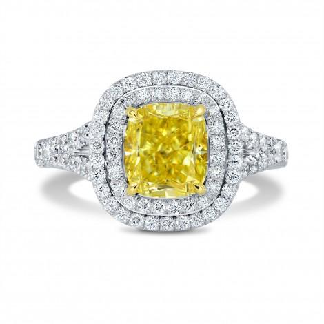 Fancy Intense Yellow Diamond Halo Ring, SKU 143173 (2.78Ct TW)