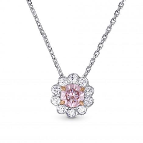 Fancy Purplish Pink Diamond Floral Halo Pendant, SKU 144924 (0.50Ct TW)