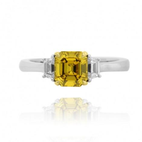3 Stone Ring Setting with Stepcut Diamonds, SKU 1455S