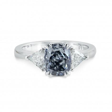 Fancy Gray-Blue Cushion Diamond Ring, SKU 147227 (2.13Ct TW)