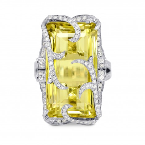 Extraordinaire  Belle Citron - Lemon Quartz Diamond Ring, ARTIKELNUMMER 155673 (26,42 Karat TW)