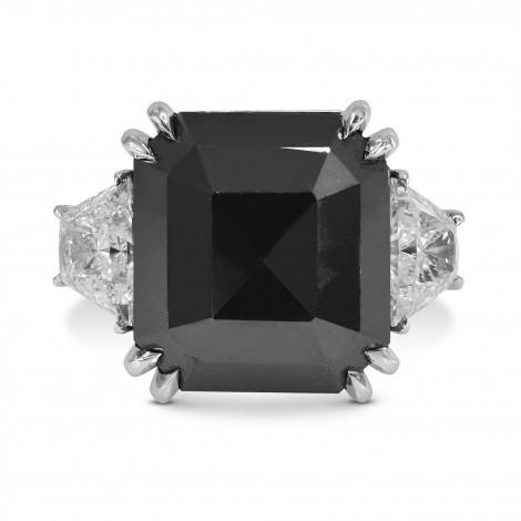 Black Diamond Emerald Cut Diamond Ring, SKU 159579 (14.61Ct TW)