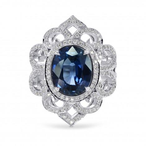 3.42Ct Oval Sapphire and Diamond Dress Ring, SKU 160151 (3.93Ct TW)