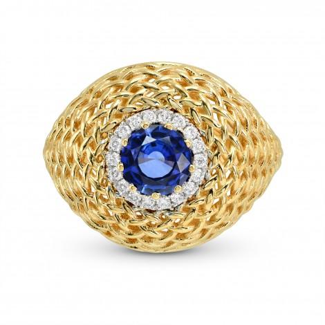 Sapphire & Diamond Designer Ring, SKU 161221 (0.85Ct TW)