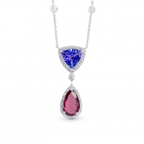 Tanzanite & Pink Tourmaline Diamond Pendant, SKU 162816 (5.03Ct TW)