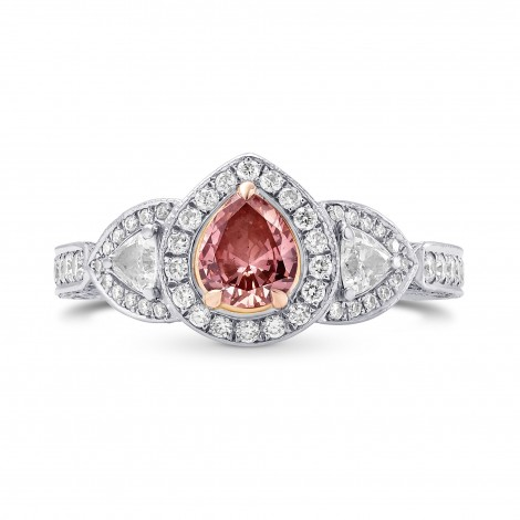 Fancy Intense Orangy Pink Pear Diamond Dress Ring, SKU 163690 (1.56Ct TW)