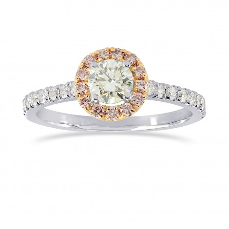 White and Fancy Pink Diamond Halo Ring, ARTIKELNUMMER 164322 (0,61 Karat TW)