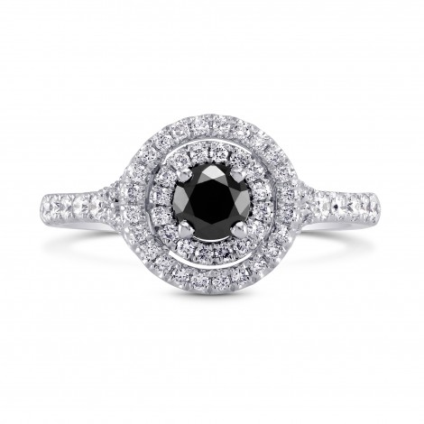 Black Diamond Double Halo Ring, SKU 170586 (0.71Ct TW)