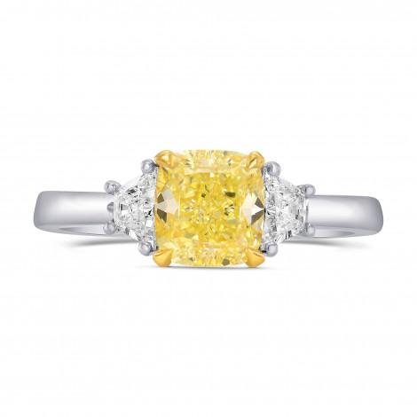 3 Stone Ring Setting with Trapezoid Diamonds, SKU 1729S