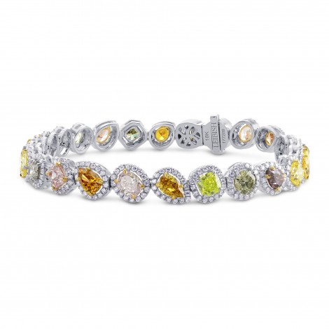 All Natural Multicolor Diamond Bracelet, ARTIKELNUMMER 177209 (10,98 Karat TW)