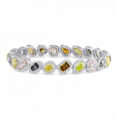 Natural Multicolored Diamond Halo Bracelet, SKU 177643 (13.04Ct TW)