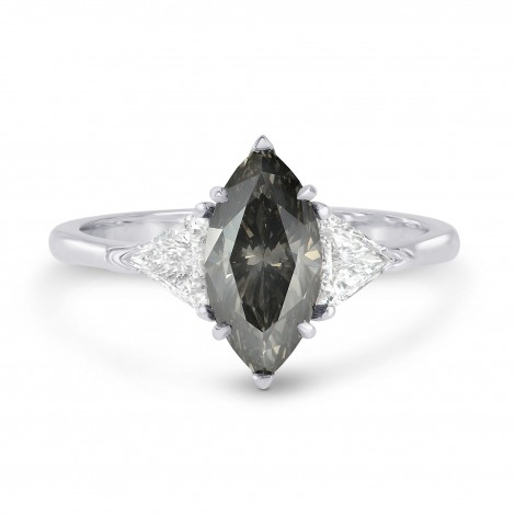 Fancy Dark Gray Marquise & Triangle Diamond Ring, SKU 181442 (2.27Ct TW)