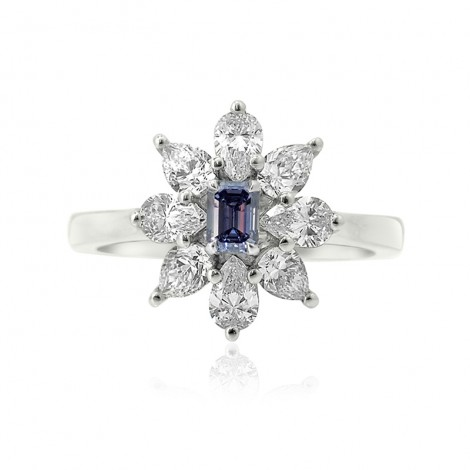 Dress ring setting with Pear Diamond Side-stones, SKU 1906S