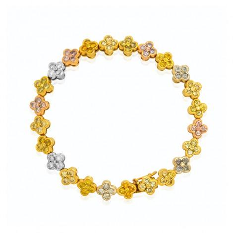 Natural Multicolored Brilliant Cut Diamond Bracelet, SKU 192172 (7.05Ct TW)