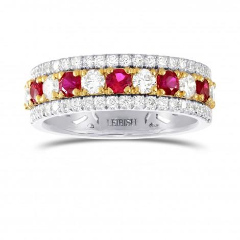 Ruby & Diamond Band ring, SKU 192351 (1.21Ct TW)