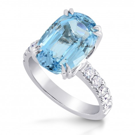 Oval Aquamarine & Diamond Ring, SKU 196851 (6.17Ct TW)