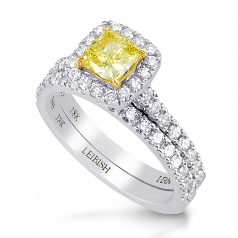 Fancy Yellow Internally Flawless Diamond Wedding Ring Set, SKU 197595 (1.44Ct TW)