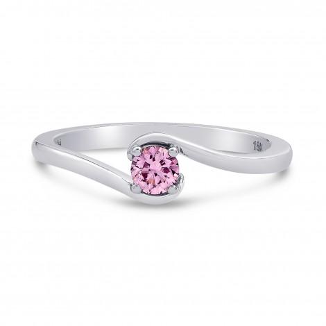 Fancy Intense Purplish Pink Round Diamond Solitaire Ring, SKU 199801 (0.18Ct TW)