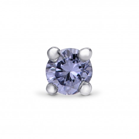 Fancy Gray Blue Round Brilliant Earring Studs, SKU 208572 (0.08Ct)