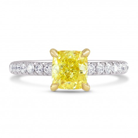 Cushion Diamond Side-stone Ring Setting, SKU 2096S
