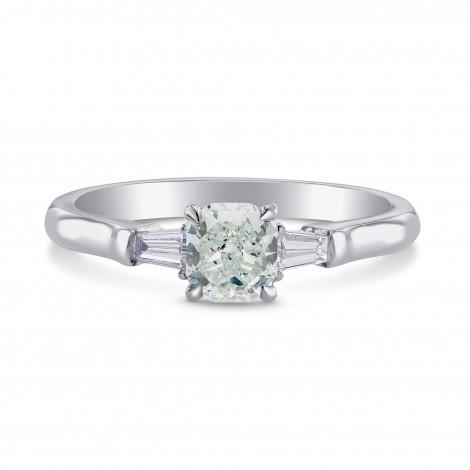 Fancy Bluish Green Diamond 3 Stone Ring, SKU 210407 (0.60Ct TW)